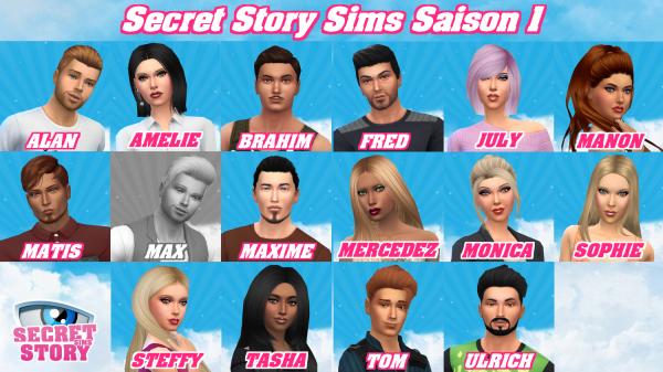 Secret Story Sims Saison 1