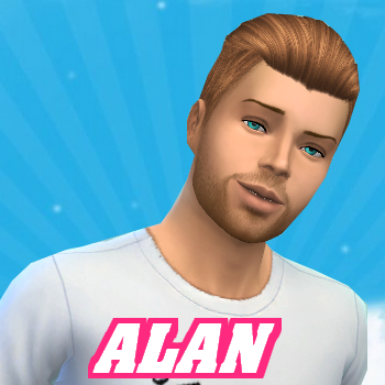 Secret Story Sims S1 - Portrait d'Alan