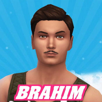 Secret Story Sims S1 - Portrait de Brahim