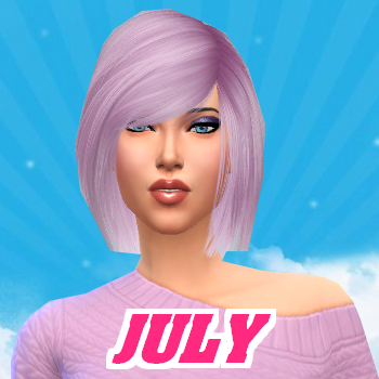 Secret Story Sims S1 - Portrait de July