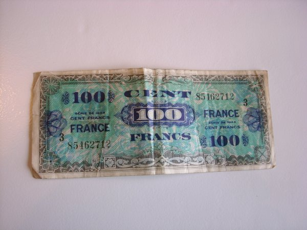 billet de 100 francs impression américaine
