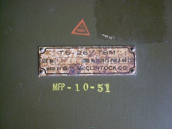 U.S. ARMY SIGNAL CORPS TEST SET TS-26-A/TSM