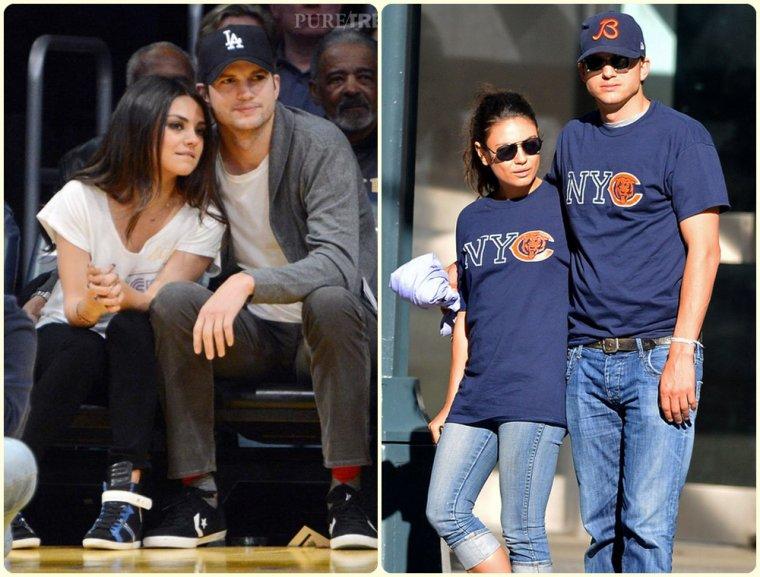Mila Kunis & Ashton Kutcher & leur enfants Wyatt & Dimitri