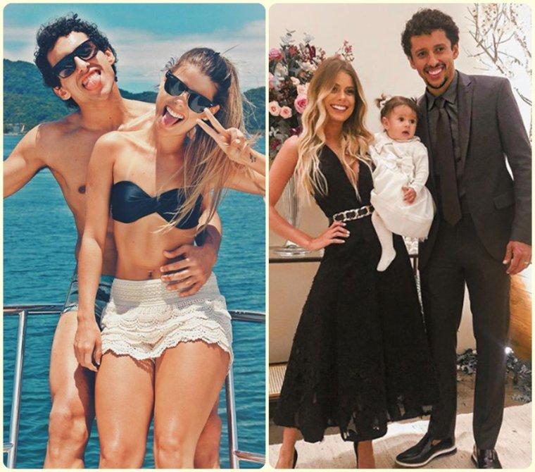 Marquinhos & Sa Compagne Carol Cabrino & leur fille Maria