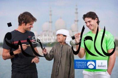 #  RAFA   EXHIBITION   ABU DHABI   ///  / RAFA  a battu  FEDERER   pour la 3° place^^   BONNE ANNEE A TOUS !!!!!!!!!!