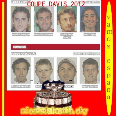 #  COUPE DAVIS       L 'ESPAGNE  EN 1/4 de final   ca sera vs l' AUTRICHE