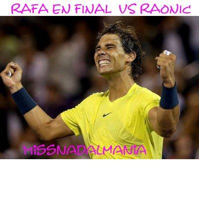 #  RAFA  ♥♥   Rogers Coupe  MONTREAL 2013  RAFA  en  FINAL vs RAONIC  ******Rafa vainqueur!!!