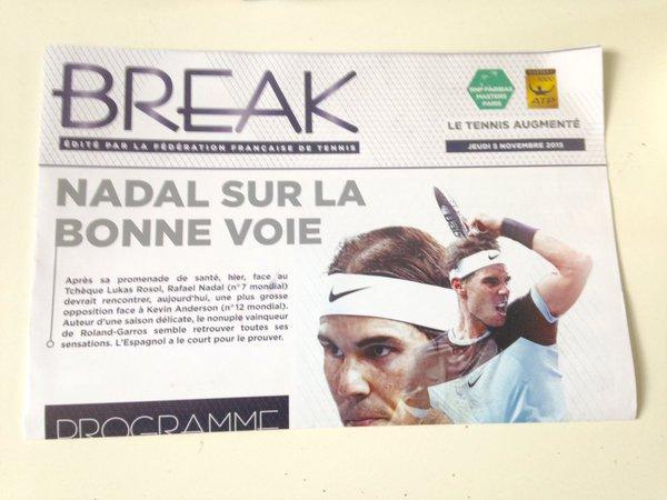 #RAFA    Open Paris BERCY    Master 1000)   RAFA  perd en  1/4 de final