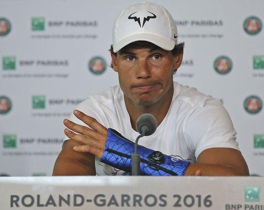 # RAFA   NADAL   Roland Garros   #  RAFA    FORFAIT    Blessure a son poignet -