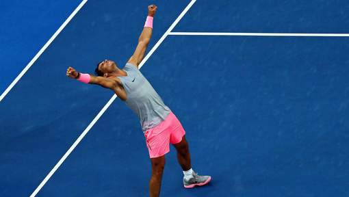 # RAFA    Melbourne   2018  # 1/4° de final  RAFA   VS  CILIC  abandon de Rafa  :(