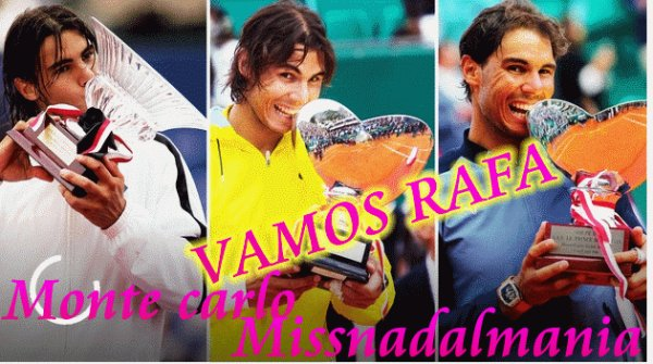 # Rafa  ♥  Masters 1000 de Monte-Carlo  RAFA  vainqueur pour la 11° fois