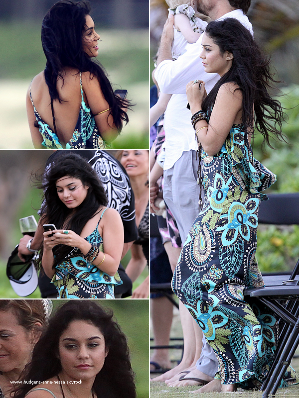 .  6 Novembre : Vanessa toute émue assistait au mariage de ses amis dans un cadre féérique, sur une plage d'Hawaï. .