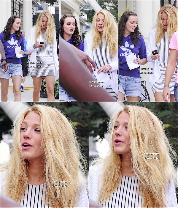 10/08/11 - Blake et Leighton Meester, plus amie que jamais, étaient sur le tournage de Gossip Girl.