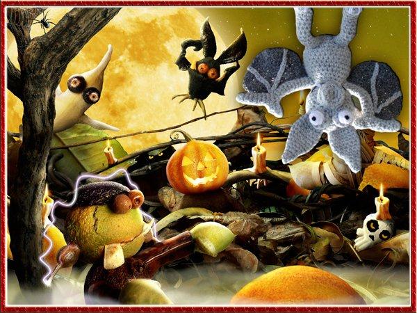 la chauve souris pour halloween