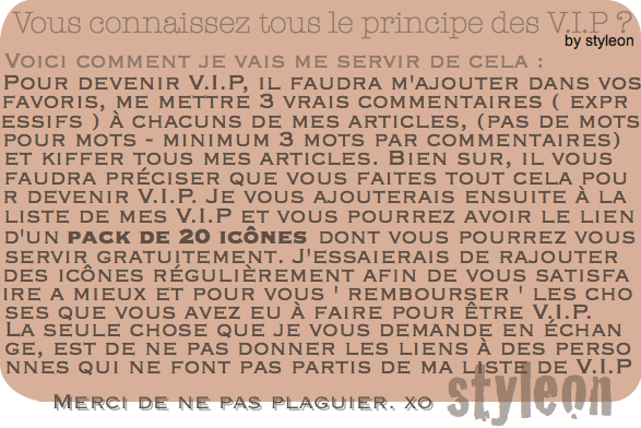 *PLUS l Un article V.I.P *
