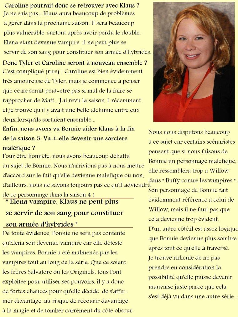 Saison 4, confessions de Julie Plec sur les spoilers !