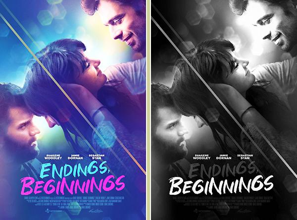 • Découvrez le premier poster promotionnel du prochain film de Shailene ▬ « Endings, Beginnings » : Le film est toujours prévu pour le 01 mai en VOD aux USA. J'aime beaucoup le contraste du poster, avec Jamie et Sebastian. Hâte de voir le film !