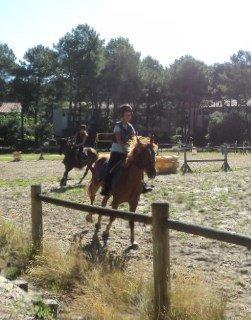 Mon cours d'équitation à Lacanau du 31 juillet
