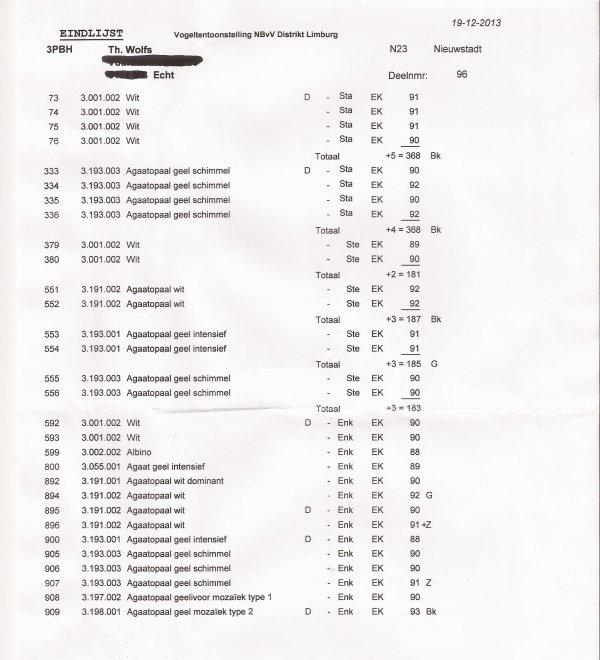 Uitslag SDL 2013