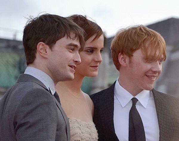 Daniel Radcliffe Emma Watson et Rupert Grint