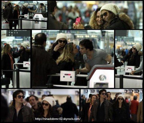 31 mars 2013:Nina a été aperçue à l'extérieur de la maison de sa famille avec Ian.
