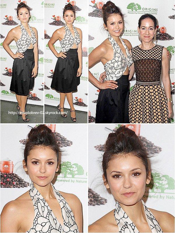 3 mai 2013: Nina a été aperçue au lancement de la nouvelle gamme << Origins GinZing Hydratant énergisants >>