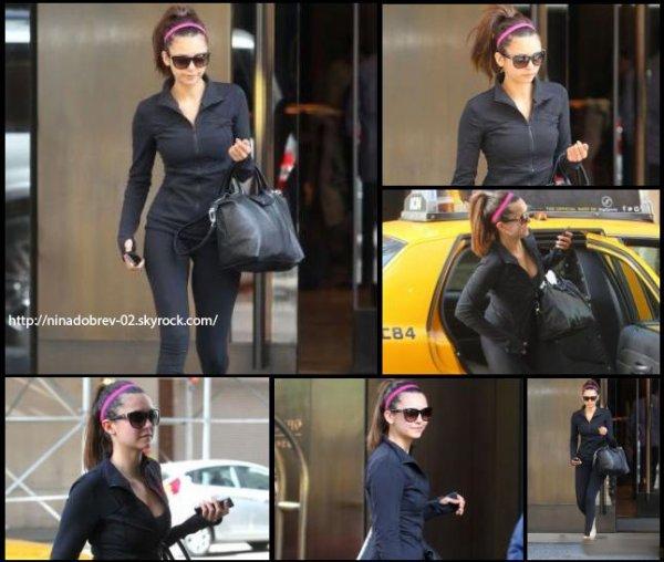 5 mai 2013: Nina a été photographié à l'extérieur de son hôtel, à New-York.