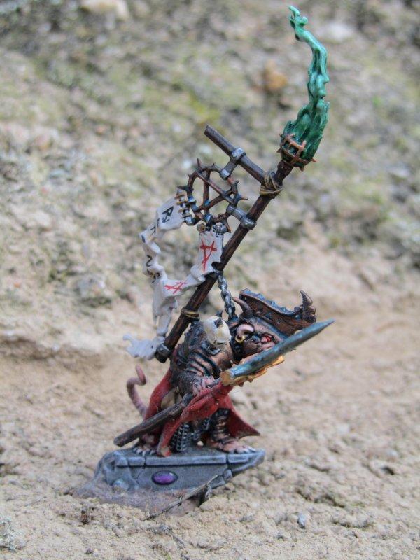 Armée des Skavens : Seigneur de Guerre et Rat-Ogre