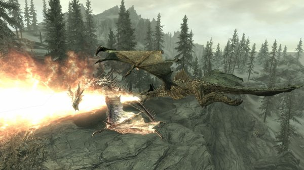 I believe I can fly...sur le dos d'un dragon (Skyrim)