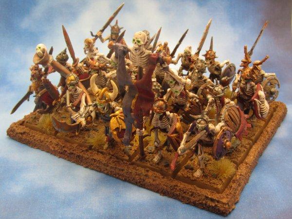 Armée des Comtes Vampires : Guerriers squelettes avec état-major