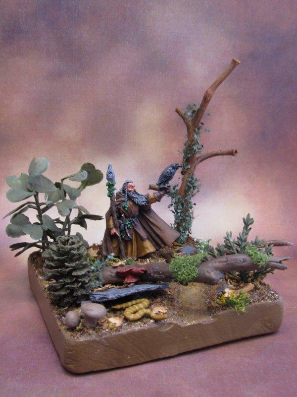 Présentoir forestier pour figurine