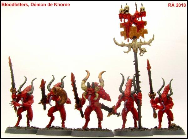 Daemons of Khorne : Bloodletters (Ex Sanguinaires)