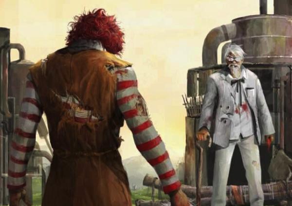 Le clown vs le vieux