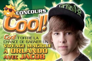 """Concours """"COOL"""" Retrouve moi sur mon :  Site Officiel - Facebook - Twitter"""