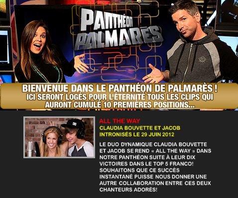Mon vidéo-clip ALL THE WAY intronisé au Panthéon !!! RETROUVE MOI SUR :  Site Officiel - Facebook - Twitter