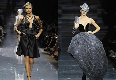 Armani luxuriant crystalline evening dress