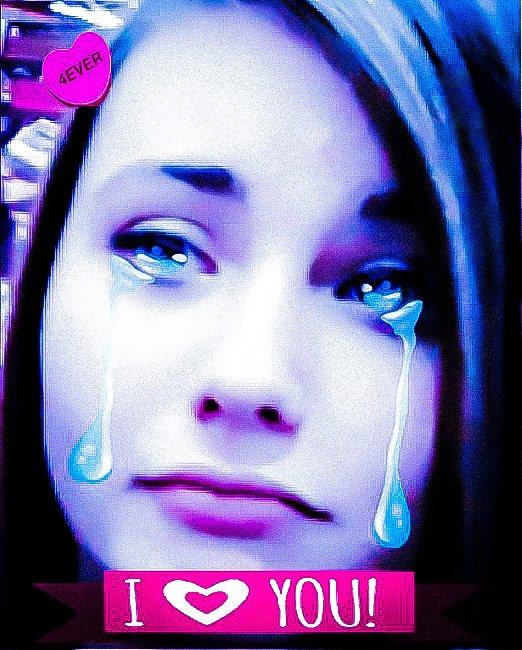 jeme pa kan tu pleurre je sui triste ❤