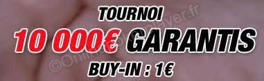10 000 euros pour seulement 1 euros sur Barrière.fr  le 08 Novembre 2012