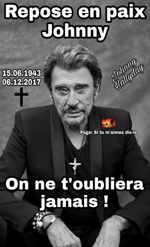 JOHNNY HALLYDAY MORT A L'AGE DE 74 ANS LE 5 DECEMBRE 2017 *