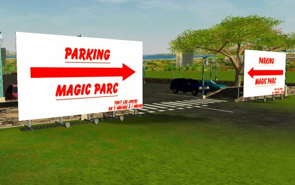 Construction du Magic Parc