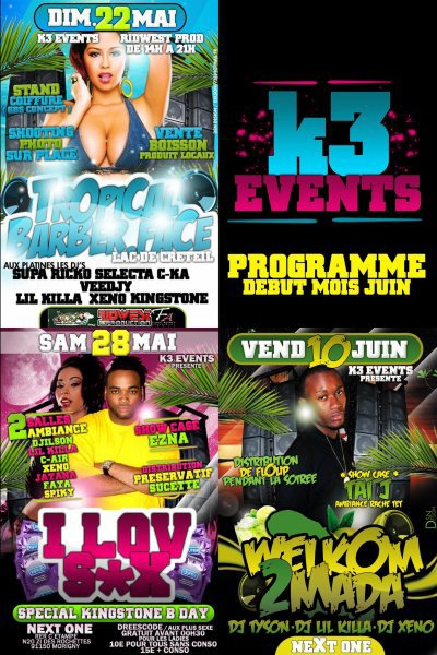PROGRAMME DES EVENEMENTS K3 EVENTS