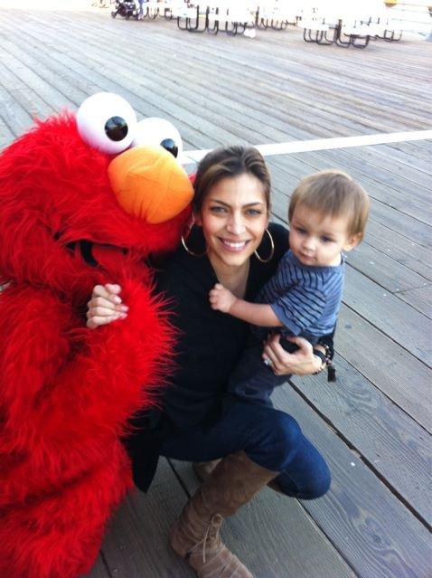 Elmo, Cavan et sa maman.