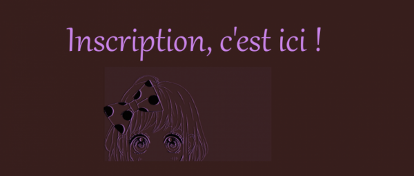 Inscription - général -