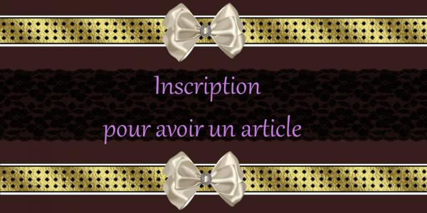 Inscription - + d'option -