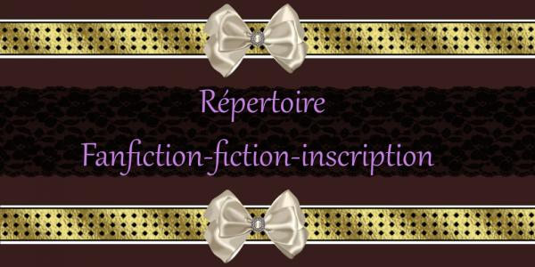 Répertoire Fanfiction-Fiction inscription