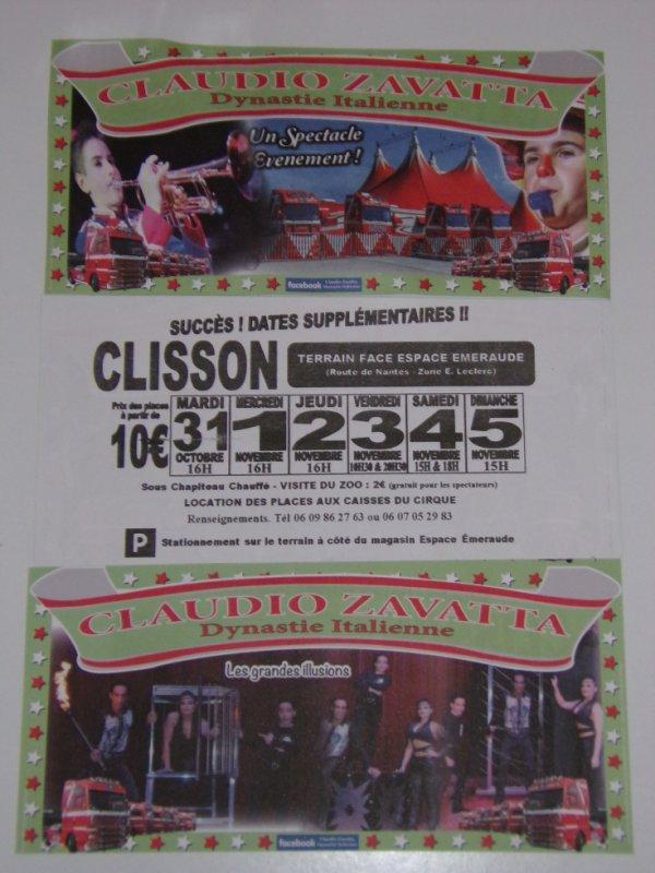 Le cirque Claudio Zavatta (direction Prein) prolonge à Clisson (44)
