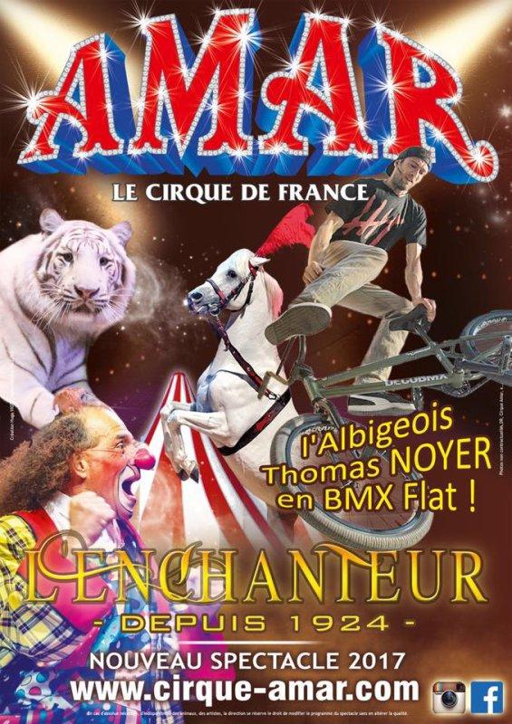 Du BMX sur la piste du cirque Amar !! Un numéro exclusif pour la ville d'Albi