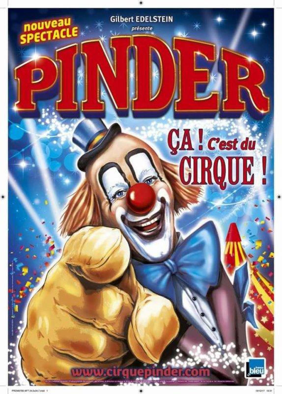L'affiche 2018 du cirque Pinder !!