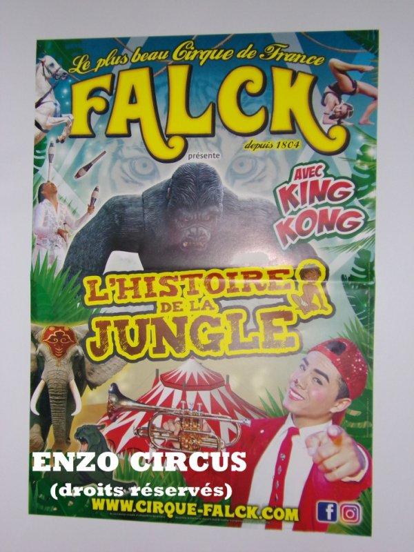 Le cirque Falck fait sa pub !! L'affiche magasin 2018