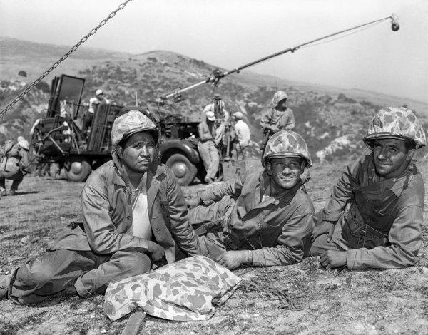 La photo d'Iwo Jima